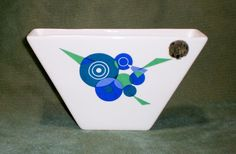 Vintage BYGDO 6022 Wall Pocket Portugal Geometric Design in Pottery & Glass, Pottery & China, China & Dinnerware   eBay