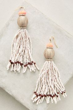 vacation tassel drop earrings
