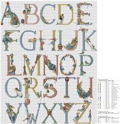 Cross stitch Marjolein Bastin ABC Vera Mouse
