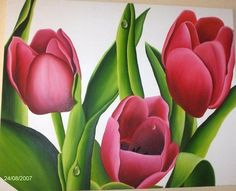 Arte Floral, Projects To Try, Plants, Painting, Color, Pastel, Oil On Canvas, Artwork Ideas, Tulips