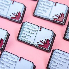 Get angsty with my new 'Dear Diary' pin in my shop now (Posted by Heathers The Musical, Jacket Pins, Cool Pins, Dear Diary, Pin And Patches, Stickers, Up Girl, Pin Badges, Breakfast Club
