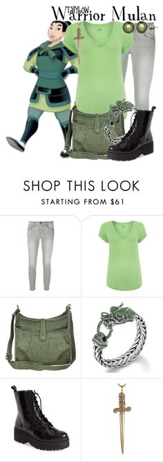 """""""Warrior Mulan"""" by tallybow ❤ liked on Polyvore featuring Frame, Polo Ralph Lauren, Frye, John Hardy, Jeffrey Campbell, Jennifer Fisher and Honora"""