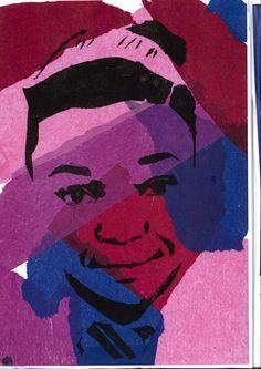 Stencil Portrait! (Miss Allen's 2012/13 Year 9 Class)