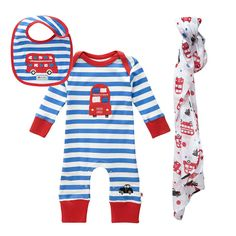 Piccalilly Organic Cotton Red and Yellow Baby Girls Ladybird Print Baby Bodysuit