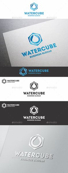 Water Cube Polygon Logo - Water Drop Box – Polygon Cube Logo – An excellent logo template which is perfect for Ecology, Natural, Water, Medical, Oil Gas, Drops, Spa, Organic, Beauty Company, Technology Business, any start up company, etc.  Unique Logo Emblem for Your successful business solutions!