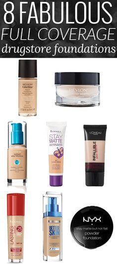 8 Fabulous Full Coverage Drugstore Foundation - The Best Drugstore Foundation by beauty blogger Meg O. on the Go