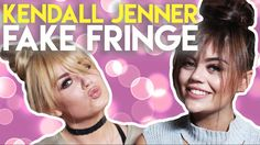 KENDALL JENNER Inspired Easy Fake Fringe! w/ Emily Canham & Lucy Flight