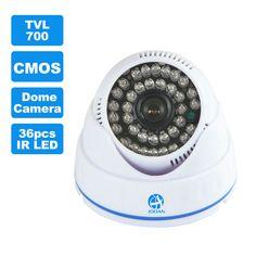 JOOAN 700TVL Cámara CCTV 36 unids IR LED Buena Visión Nocturna de Vigilancia de Vídeo Doméstico de Seguridad Mini Domo para Interiores Cámara de Vigilancia