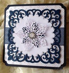 Twinkling Snowflake Christmas Card   docrafts.com