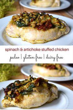 Spinach and Artichoke Stuffed Chicken - Whole Health Hacks