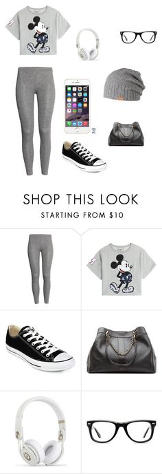 """Grey"" by chloe950 ❤ liked on Polyvore featuring H&M, Paul & Joe Sister, Converse, See by Chloé, Muse and Barts"