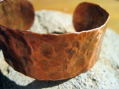 Hammered Copper Cuff Bracelet by jodybrimhall on Etsy, $32.00