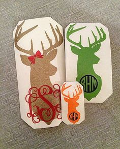 This Deer Head decal is perfect for any deer lover!  At Checkout please copy & paste: * First initial: * Middle initial: * Last initial: *