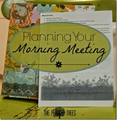 Planning Your Morning Meeting