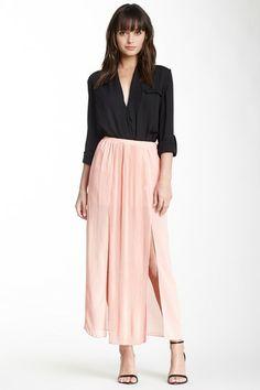BLVD Pleated Panel Maxi Skirt by Non Specific on @HauteLook