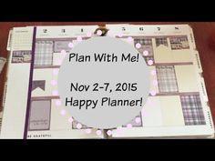 Plan With Me Nov.  2 -7 Purple Plaid