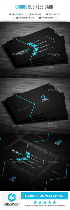 Buy Unique Business Card by GeniusPoint on GraphicRiver. Features: Easy Customizable and Editable Business Card Design in with Bleed Setting inch) CMYK Colo. Professional Business Card Design, Unique Business Cards, Business Design, Presentation Cards, Presentation Design, 3d Printing Business, Business Logo, Visiting Card Design, Bussiness Card