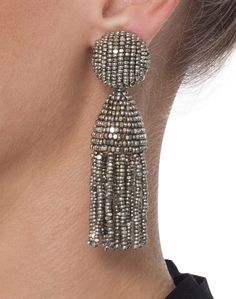 Champagne Tassel Earrings | Oscar de la Renta | Haslbrook