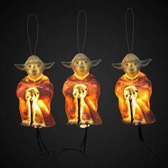 Yoda Star Wars Holiday Lights #StarWars #Christmas #Ornaments