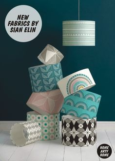 New Fabrics by Sian Elin - Fresh Geometric Prints from Wales-based Interior Designer