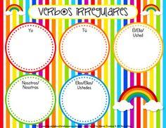 Classroom Freebies: Spanish Irregular Verb Sorting Mat