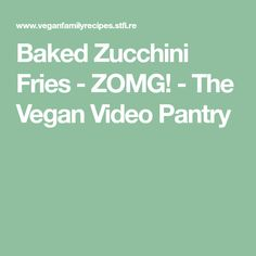 Then this list of Vegan Finger Foods is perfect for you! Easy, healthy, appetizer recipes that are vegan & many gluten-free! Zucchini Sticks, Bake Zucchini, Zucchini Fries, Vegan Finger Foods, Appetizer Recipes, Appetizers, Vegan Ranch, Vegan Bread, Get Excited