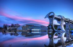 Amazing Falkirk Wheel. Looks very futuristic in this picture. Camelon UK