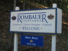 the sign at Rombauer Vineyards