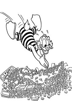 Donald Duck And Nephews In Tales Coloring Pages