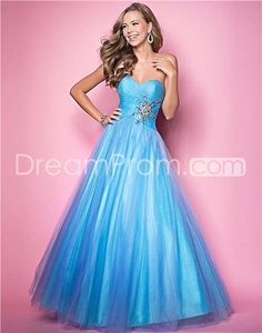 2014 Style A-line Sweetheart Beading Sleeveless Floor-length Tulle Prom Dresses / Evening Dresses