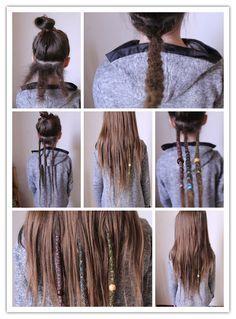 hippie hair 704461566698842642 - Dreads Source by xnalosix Half Dreaded Hair, Partial Dreads, Color Melting Hair, Faux Dreads, Poofy Hair, Dreadlock Hairstyles, Hippie Hair, Pretty Hairstyles, Colorful Hair