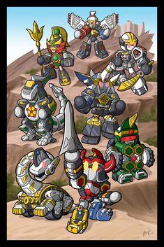 all mighty morphin power rangers megazords cartoon的圖片搜尋結果 Power Rangers Megazord, Power Rangers Dino, Power Rangers Comic, Pawer Rangers, Mighty Morphin Power Rangers, Desenho Do Power Rangers, Gi Joe, Chibi, Dinosaurs