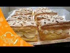 Milhojas de Nata y Crema Postre Napoleón Tarta Mille-Feuille - YouTube