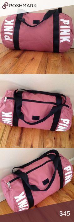 f0eaf477f61 Victoria secret duffle bag · NWOT VS Pink duffle bag begonia color Brand  new VS Pink duffle bag begonia