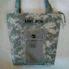 Personalized ACU Handbag - gift for mom - Army mom purse - Army wife handmade bag - gift for her - gift for sister - custom Army handbag by bythebayoriginals on Etsy