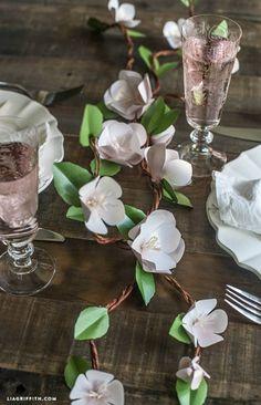 Paper Apple Blossoms via Lia Griffith