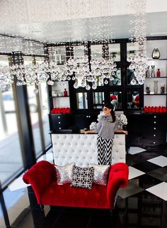 So Glam!! LASH Eyelash Studio designed by Contour Interior Design, LLC