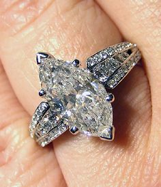 345ct Antique Vintage MARQUISE Cut DIAMOND by TreasurlybyDima,