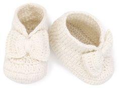 Jefferies Socks Baby-Girls Newborn Bow Bootie, Pearl, Newborn