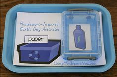 Montessori Monday – Montessori-Inspired Earth Day Activities  Great recycling lessons