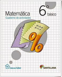 Recursos didácticos para imprimir, ver, leer: Cuaderno de Matemáticas. 6º de Primaria. Santillan...
