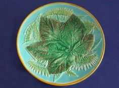 George Jones Majolica 'Leaf and Fern' Low Comport c1871