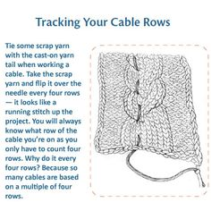 Handy trick for tracking cable rows.