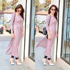 Pin by Salina_shasha on Fashion in 2019 Simple Kurti Designs, Kurta Designs Women, Salwar Designs, Pakistani Dresses, Indian Dresses, Indian Outfits, Punjabi Dress, Stylish Dresses, Simple Dresses