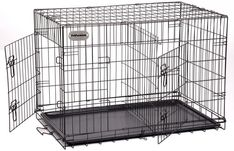 (This is an affiliate pin) PetPremium Extra Large Dog Crate   XXL Pet Carrier Travel Cage   Indoor Outdoor Outside   Collapsible Portable Folding Wire Metal Kennels   Double-Doors with Divider and Tray   48x30x32 inches (LxWxH) Cart, Covered Wagon, Strollers