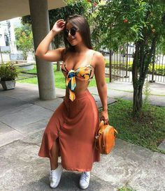 Que linda 🥰 apro ou repro? summer in 2019 женская мода, мода, оде Girl Fashion, Fashion Looks, Fashion Outfits, Womens Fashion, Fashion Clothes, Fashion Tips, Cute Casual Outfits, Stylish Outfits, Work Outfits