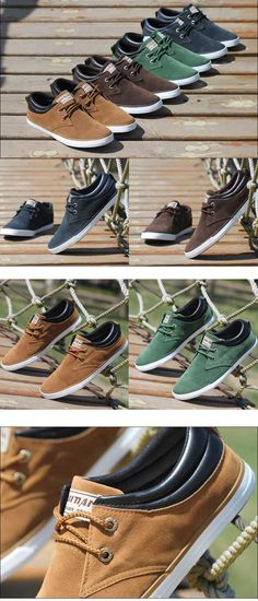 Baskets bateau Homme Sneakers casual shoes canvas toile chic Camel