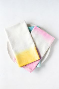 Watercolor Napkins DIY