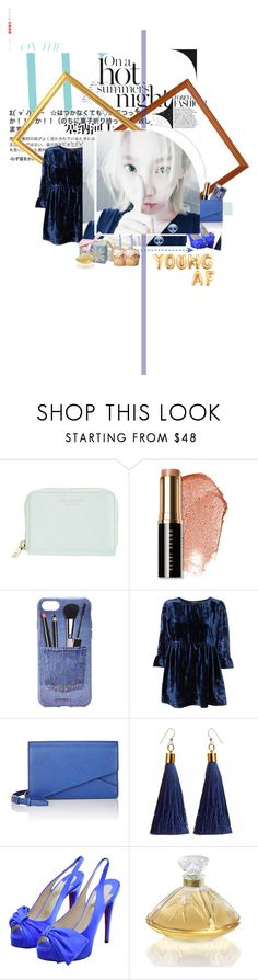"""""""Jiwoo _ Birthday w/ twin ♥"""" by purrfectas ❤ liked on Polyvore featuring Ted Baker, Bobbi Brown Cosmetics, Iphoria, Valextra, Christian Louboutin and Lalique"""