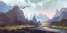 Mountain Landscape by FerdinandLadera.deviantart.com on @deviantART